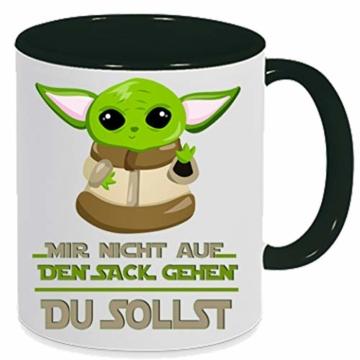 handmade Tasse mit Spruch Nicht auf den Sack gehen - du sollst schwarz, Geschenk - 1