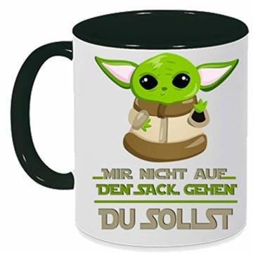 handmade Tasse mit Spruch Nicht auf den Sack gehen - du sollst schwarz, Geschenk - 3
