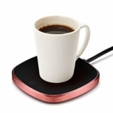 Haofy Tassenwärmer Kaffeetassenwärmer Getränkewärmer mit Elektrischer Heizplatte, 220v/15W Elektrische Tassenwärmer Pad für Büro Home Desk Verwendung, Kaffee Liebhaber (Bis zu 131F/55C) EU Plug - 1