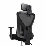 Hbada Bürostuhl Ergonomischer Drehstuhl Mesh Stuhl Chefsessel Schreibtischstuhl mit hoher Rückenlehne mit verstellbar Armlehnen Lordosenstütze Schwarz - 1