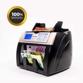 HILTON EUROPE HE-7500 3D Plus Banknotenzähler mit Falschgelderkennung und Erkennung von USD-Kapazität, 300 Banknoten auf neue 100- und 200-Euro-Banknoten - 1