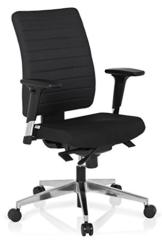 hjh OFFICE 608814 Bürostuhl PRO-TEC 350 Stoff Schwarz Bürodrehstuhl ergonomisch, Rückenlehne & Armlehnen verstellbar - 1