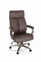 hjh OFFICE 750036 Drehstuhl XXL Grand 100 Kunstleder Braun Chefsessel bis 180kg belastbar, Kopfstütze neigbar, Wippfunktion - 1
