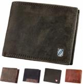 Hodalump Echt-Leder Geldbörse • Geldbeutel für Damen und Herren mit RFID-Schutz • Portmonee inkl. Geschenkverpackung • Bavaria Hodalump Prägung - 1