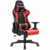 Homall Gaming Stuhl Racing Computerstuhl Ergonomischer Bürostuhl Gamer Stuhl Höhenverstellbarer Schreibtischstuhl PC Stuhl, Rot - 1