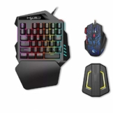 HXSJ J50 Gaming Keyboard Mouse Set, HXSJ P6 Keyboard + LED Backlight Mouse and Mouse Adapter Compatible for N-Switch / Xbox One / PS4 / PS3 / Xbox One 360 - 1