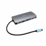 i-tec USB-C 4K Metall Nano Docking Station 1x HDMI 1x VGA 1x GLAN 1x USB-C 3X USB 3.1 1x SD/MicroSD 1x Audio Power Delivery 100W für Windows MacOS Android ChromeOS - 1
