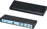 i-tec USB-C/USB 3.0 2x4K Universal Dockingstation PD 60 W 2x DP 4K 60 Hz, 2x HDMI 4K 60 Hz, 1x LAN, 4x USB 3.0, 2x USB-C 3.1, 1x Audio/Mikrofon, Thunderbolt 3 kompatibel - 1