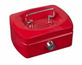 Idena 50031 - Geldkassette Mini, Größe 125 x 95 x 60 mm, Farbe Rot, 1 Stück - 1