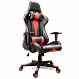 iHomy Multifunktionaler Gaming Stuhl Großer tragender Gaming-Stuhl bis 200KG Premium Schreibtischstuhl Bürostuhl Gamer Ergonomischer Stuhl mit Einstellbarer Neigungswinkel bis 180° - 1
