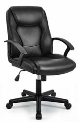 IntimaTe WM Heart Chefsessel, Bürostuhl, Höhenverstellbarer Drehstuhl ergonomisches Design, Schreibtischstuhl 120kg Belastbarkeit, Schwarz - 1