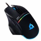 KLIM Skill Gaming Maus - High Precision PC Gaming Mouse USB - Neue 2020 - Wählbare DPI-Einstellung – Programmierbare Tasten - Komfortabler Griff für Alle Handgrößen – Exzellenter Griff PC PS4 Schwarz - 1