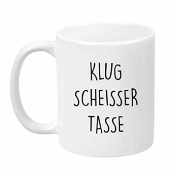 Lach - Produkte ''Klugscheisser Tasse'' - Kaffeetasse - Geschenk - Tasse - Trend Artikel - - 1