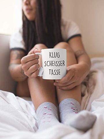 Lach - Produkte ''Klugscheisser Tasse'' - Kaffeetasse - Geschenk - Tasse - Trend Artikel - - 6
