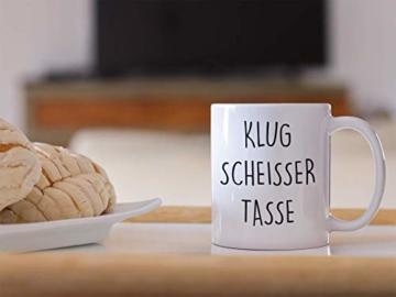 Lach - Produkte ''Klugscheisser Tasse'' - Kaffeetasse - Geschenk - Tasse - Trend Artikel - - 7