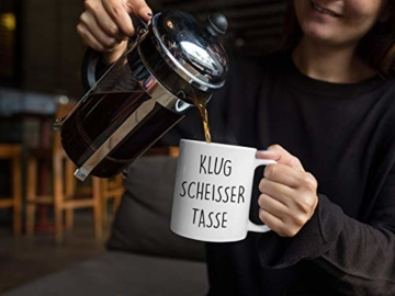 Lach - Produkte ''Klugscheisser Tasse'' - Kaffeetasse - Geschenk - Tasse - Trend Artikel - - 8