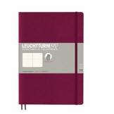 LEUCHTTURM1917 359673 Notizbuch Composition (B5) dotted, Softcover, 123 nummeriete Seiten, Port Red - 1