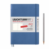 LEUCHTTURM1917 362023 Denim, Wochenkalender, Softcover, Medium (A5) 2021, Deutsch - 1