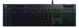 Logitech G815 mechanische Gaming-Tastatur, Clicky GL-Tasten-Switch mit flachem Profil, LIGHTSYNC RGB, Ultraschlankes Design, 5 Programmierbare G-Tasten, USB-Durchschleife, Multimedia-Bedienelemente - 1