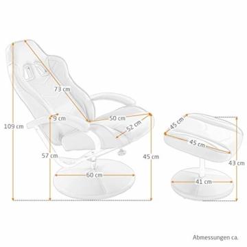 MACOShopde by MACO Möbel Raburg Gaming-Sessel Set Drift Sport + Hocker in SCHWARZ/SCHWARZ - Set aus Soft-Touch Kunstleder, ergonomisch geformt + kippbar, 360° drehbar - Tragkraft 120 kg - 3