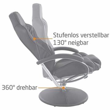 MACOShopde by MACO Möbel Raburg Gaming-Sessel Set Drift Sport + Hocker in SCHWARZ/SCHWARZ - Set aus Soft-Touch Kunstleder, ergonomisch geformt + kippbar, 360° drehbar - Tragkraft 120 kg - 6