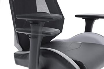 MC Racing Gamingstuhl Schwarz Grau Gaming -Schreibtischstuhl höhenverstellbarer Bürostuhl bis 120 Kg belastbar - 3