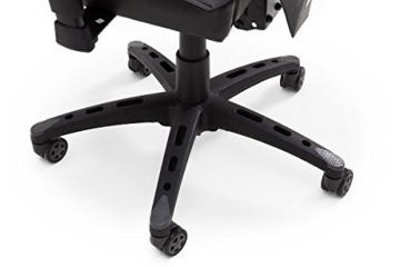 MC Racing Gamingstuhl Schwarz Grau Gaming -Schreibtischstuhl höhenverstellbarer Bürostuhl bis 120 Kg belastbar - 5