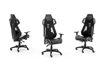 MC Racing Gamingstuhl Schwarz Grau Gaming -Schreibtischstuhl höhenverstellbarer Bürostuhl bis 120 Kg belastbar - 7