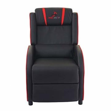 Mendler Fernsehsessel HWC-D68, HWC-Racer Relaxsessel TV-Sessel Gaming-Sessel, Kunstleder ~ schwarz/rot - 5