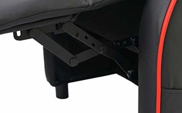 Mendler Fernsehsessel HWC-D68, HWC-Racer Relaxsessel TV-Sessel Gaming-Sessel, Kunstleder ~ schwarz/rot - 7