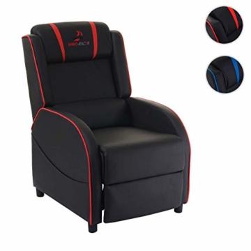 Mendler Fernsehsessel HWC-D68, HWC-Racer Relaxsessel TV-Sessel Gaming-Sessel, Kunstleder ~ schwarz/rot - 9
