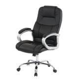 Mendler Profi-Bürostuhl Boston XXL Chefsessel Drehstuhl US-Version, 150kg belastbar, Kunstleder ~ schwarz - 1