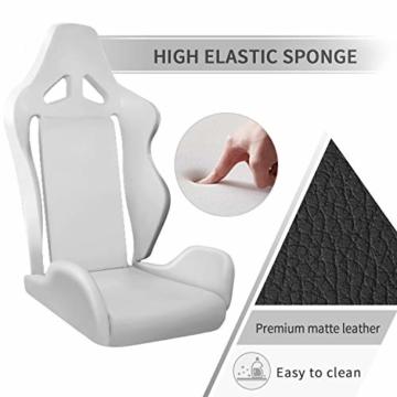 MFAVOUR Ergonomischer Gaming Stuhl für den Schreibtisch, Rückenlehne , verstellbare Armlehnen, bequeme integrierte Kopfstütze, geräuscharme Räder, 360°-drehbar, Stil für Gaming, 150 kg, grau-rot - 3