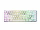 Mizar MZ60 Luna Hot-Swap Mechanische Gaming-Tastatur - 62 Tasten Mehrfarbige RGB-LED-Hintergrundbeleuchtung für PC-/Mac-Spieler - ISO Deutsches Layout (Weiß, Gateron Blue) - 1