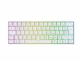 Mizar MZ60 Luna Hot-Swap Mechanische Gaming-Tastatur - 62 Tasten Mehrfarbige RGB-LED-Hintergrundbeleuchtung für PC-/Mac-Spieler - ISO Großbritannien Layout (Weiß, Gateron Yellow) - 1