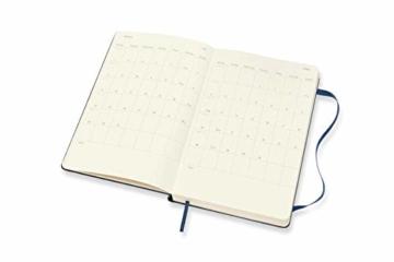 Moleskine 12 Monate Tagesplaner 2021, Tageskalender 2021, fester Einband und elasticher Verschluss, Format Groβ 13 x 21 cm, 400 Seiten Saphirblau Large - 2