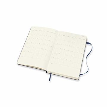Moleskine 12 Monate Tagesplaner 2021, Tageskalender 2021, fester Einband und elasticher Verschluss, Format Groβ 13 x 21 cm, 400 Seiten Saphirblau Large - 4