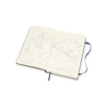 Moleskine 12 Monate Tagesplaner 2021, Tageskalender 2021, fester Einband und elasticher Verschluss, Format Groβ 13 x 21 cm, 400 Seiten Saphirblau Large - 7