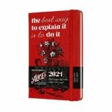 Moleskine 12 Monate Wochenkalender, Wochenplaner 2021, Alice im Wunderland limitierte Sonderausgabe, Thema Karten und Rote Rosen, Format Pocket 9 x 14 cm, 144 Seiten - 1