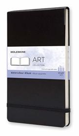 Moleskine Art Collection, Aquarell-Album (Zeichenheft, Hardcover, Papier geeignet für Aquarellstifte und Farben, Großformat 13 x 21 cm, 72 Seiten) schwarz - 1