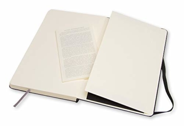 Moleskine Art Collection Skizzen-/ Zeichenbuch (mit Hardcover und elastischem Verschluss, Papier geeignet für Stifte, Bleistifte und Pastelle, Groß 13 x 21 cm, 104 Seiten) schwarz - 2