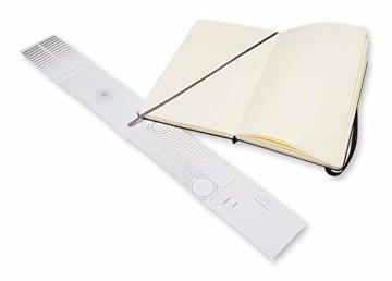 Moleskine Art Collection Skizzen-/ Zeichenbuch (mit Hardcover und elastischem Verschluss, Papier geeignet für Stifte, Bleistifte und Pastelle, Groß 13 x 21 cm, 104 Seiten) schwarz - 3