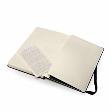 Moleskine Art Collection Skizzen-/ Zeichenbuch (mit Hardcover und elastischem Verschluss, Papier geeignet für Stifte, Bleistifte und Pastelle, Groß 13 x 21 cm, 104 Seiten) schwarz - 4