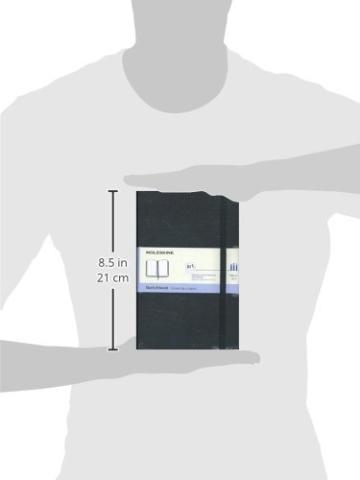 Moleskine Art Collection Skizzen-/ Zeichenbuch (mit Hardcover und elastischem Verschluss, Papier geeignet für Stifte, Bleistifte und Pastelle, Groß 13 x 21 cm, 104 Seiten) schwarz - 5