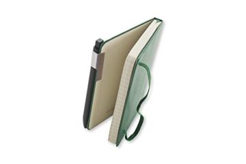 Moleskine Click Kugelschreiber (1,0 mm Stiftspitze, rechteckige Form und Clip für Notizbücher, Nachfüllbar) schwarz - 5