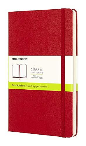 Moleskine farbiges Notizbuch (Large, Hardcover, blanko) rot - 1