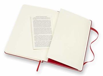 Moleskine farbiges Notizbuch (Large, Hardcover, blanko) rot - 2