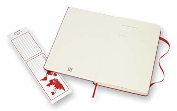 Moleskine farbiges Notizbuch (Large, Hardcover, blanko) rot - 3