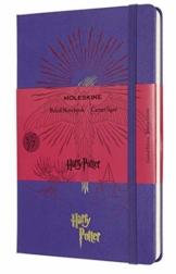 Moleskine - Harry Potter Limited Edition Notizbuch, Linierte Seiten, 5/7 Phönix Edition, Hardcover mit thematischen Grafiken und Details, Größe 13 x 21 cm, geranium-violett, 240 Seiten - 1