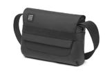 Moleskine ID Umhängetasche, Messenger Bag mit Schultergurt, Gerätetasche (für Tablet, Laptop, PC, Notizbuch und iPad bis 15 Zoll, Größe 26 x 6 x 21 cm) schwarz - 1